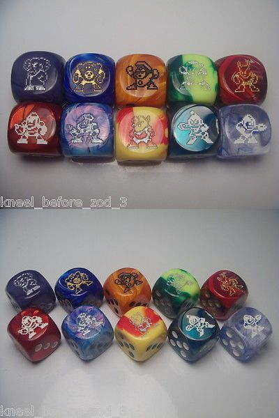 Accessories 2544: Chessex Dice Lot 16Mm 6 Sided Dice Rpg Dandd Custom Megaman 2 -> BUY IT NOW ONLY: $35 on eBay!