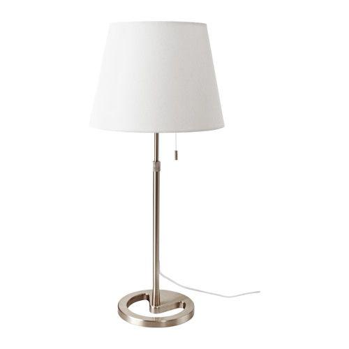 IKEA - NYFORS, Pöytävalaisin, , Tekstiilivarjostin suodattaa valon kauniisti ja tuo kotiin viihtyisän tunnelman.Korkeutta on helppo säätää tarpeen mukaan.