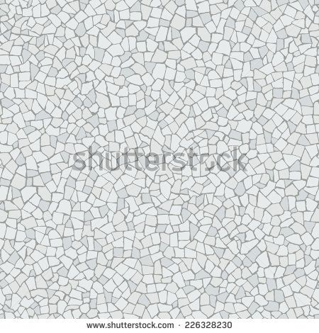 Broken tiles (trencadis) white pattern. Background