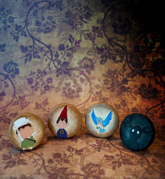 Over the Garden Wall Pinback Button Set, Gregory, Wirt, Beatrice, The Beast, The Unknown, Cartoon Network Animated Show, That's a Rock Fact!
