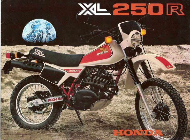 Honda XL 250 branca 1983 [na garagem de 1982 a 1984]