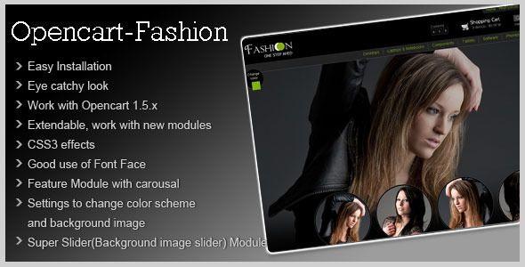 Fashion Theme for Opencart 1.5