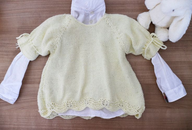 Off white sweater. Baby girl knit sweater. Handmade baby top. Girls top 0 - 12 months. Girls pullover. Newborn gift. Crochet baby sweater. by…