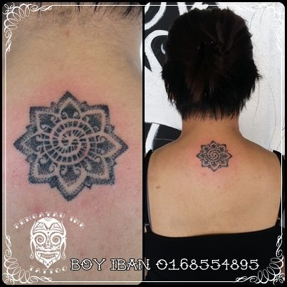 Local Tattoo Studio working with machine and traditional iban hand tapping tattoo method