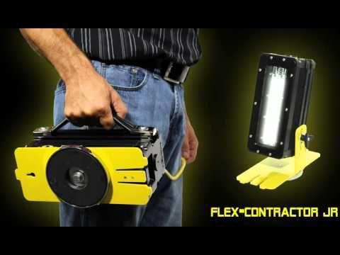 Voici le tout nouveau Flex-Contractor JR de Flexlite. Une puissante solution d'éclairage à DEL totalisant 15 000 lumens. https://www.flexlite.ca/