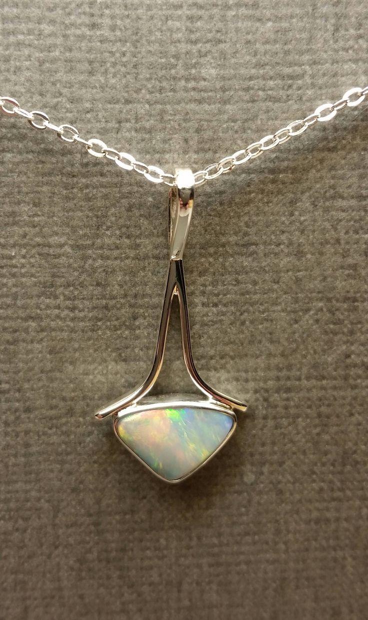 Lightning Ridge Opal Pendant. Solid 925 Sterling Silver Setting. by earthchylde7 on Etsy