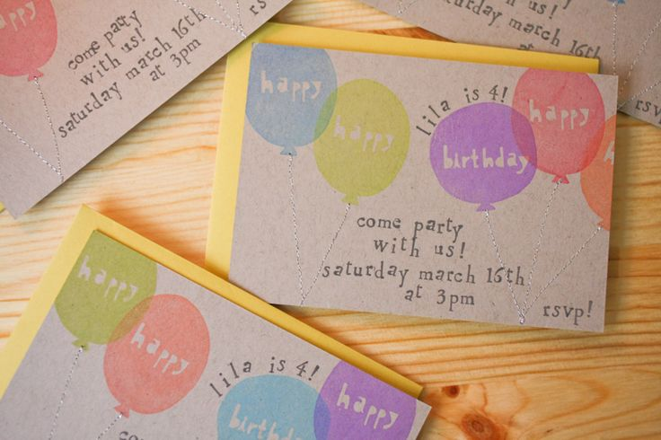 Stamped cards - love these! (Balloon stamps by Yellow Owl Workshop)