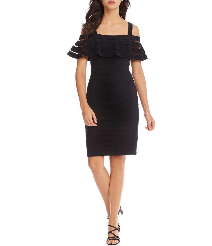 Adrianna Papell Cold Shoulder Sheath Dress #Dillards