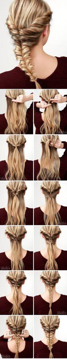 Hairstyle tutorial witj elegant braids - Tutorial peinado trenzado, trenzas estilo circular