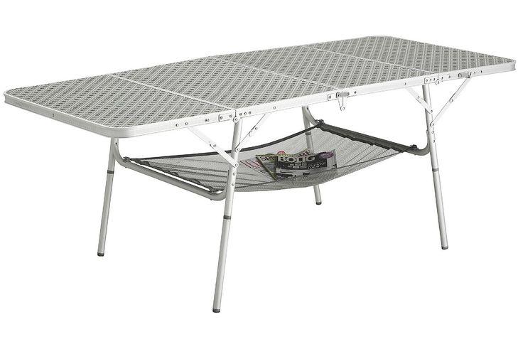 Der Tisch ist zum Transport kompakt zusammengelegt und leicht zu tragen, aber aufgebaut äußerst stabil. Für Picknick und Camping ideal geeignet.  • Zusatzinformation: - Auf- und zugeklappt in Sekunden - Geringes Gewicht - Höhenverstellbare Tischbeine - Kompaktes Packmaß - Praktische Griffe für einfachen Transport - Maximale Tragkraft: 30 kg  Maße  • Packmaß (L x B x H): 80 x 45 x 14...