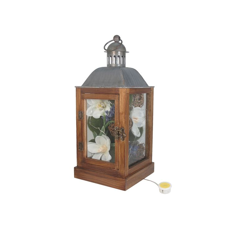 SONOMA Goods for Life™ Artificial Flower Light-Up Lantern Table Decor, Multicolor