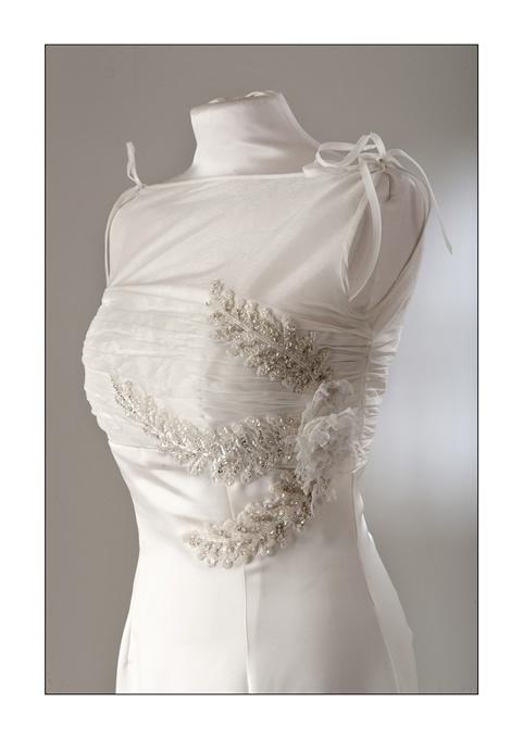 Abito in triplo Cady di seta, Bride dress in silk cady Triple