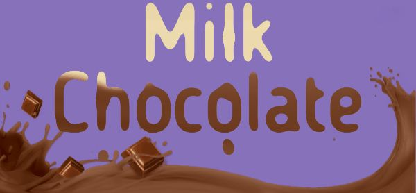 Milk chocolate drop animated effect logo maker engfto.com
