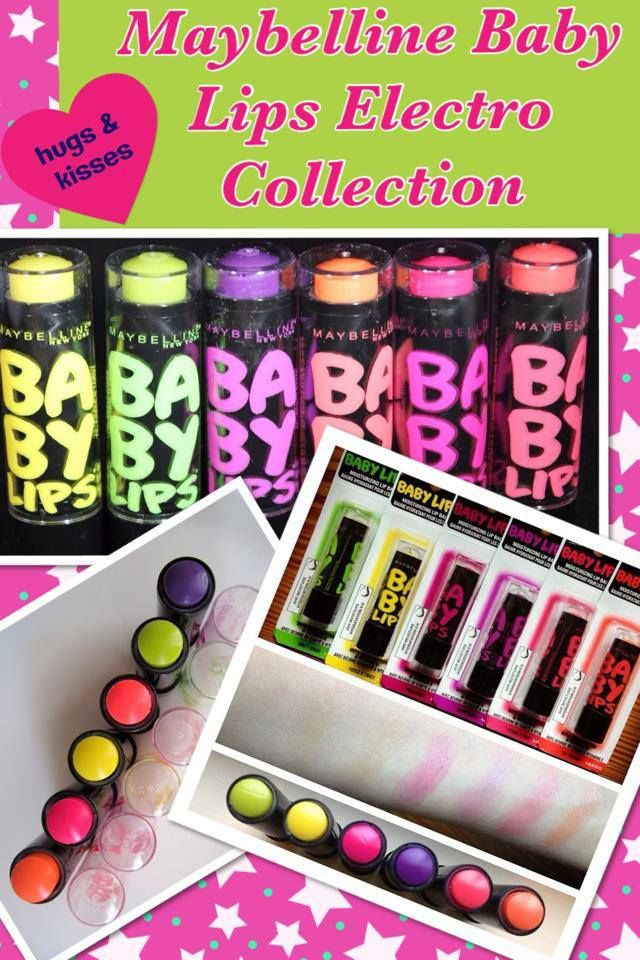 """Maybelline has their new """"Baby Lips Electro Collection"""" out now!! They come in 6 great moisturizing flavors in an array of electrifying colors! These colors come off mostly sheer but with a double application the colors listed below with an asterix will come off darker!! Right now these lippies are available at Walgreens Buy 1 get 1 half off!!   YELLOW: Fierce and Tangy   GREEN: Minty Sheer   ORANGE: Oh Orange!*   CORAL: Strike a Rose*   PURPLE: Berry Bomb*   MAGENTA: Pink Shock*"""