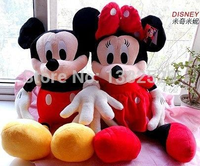 50cm Minnie mouse Mickey Mouse plush toys children's birthday present  a pair of loves 2pcs/lot //Price: $US $29.88 & FREE Shipping //     #rchelicopters