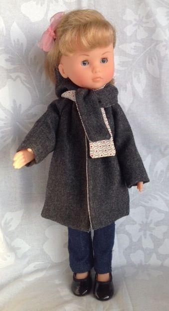 Manteau flanelle, doublure coton imprimé. Echarpe assortie. Visible sur le site http://www.papaetmaman.fr/boutiques/jolis-z-abits.html