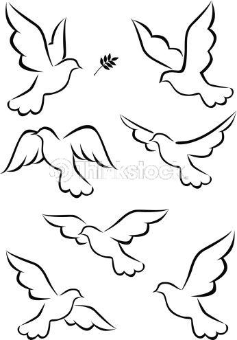 Vector Art: Flight of dove