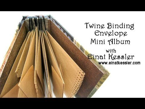 Twine Binding Envelope Mini Album - YouTube