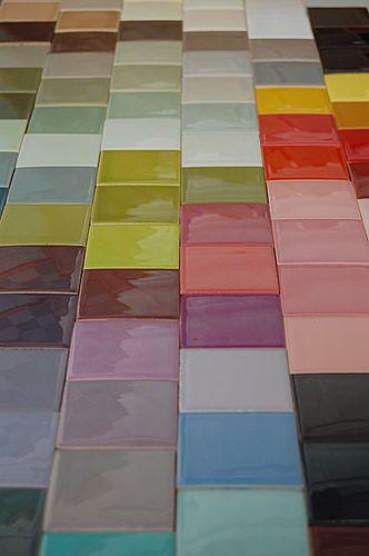 Ceramic Wall Tile: Plain Color NUANCIER DE COULEURS NORMANDY CERAMICS  Normandy Ceramics   Carrelage Design