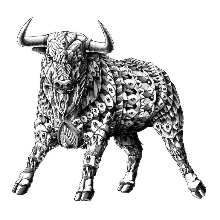Картинки быка татуировка