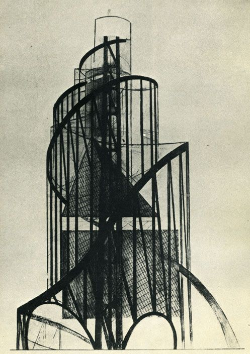 Tatlin's Tower. Vladimir Tatlin was a Russian & Soviet painter and architect. With Kazimir Malevich he was one of the two most important figures in the Russian avant-garde art movement of the 1920s, and he later became an important artist in the Constructivist movement. He is most famous for his design for The Monument to the Third International, more commonly known as Tatlin's Tower, which he began in 1919.