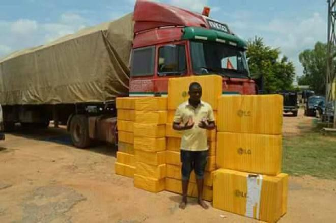 Man Conceals N19million Worth Of Tramadol Tablets In Plasma TV Cartons (Photos)