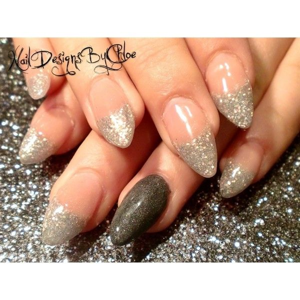 Classy Almonds Nail Art Gallery ❤ liked on Polyvore featuring nails