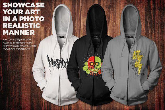 Download Zip Up Hoodie Mockup Kit Hoodie Mockup Hoodies Unique Hoodies
