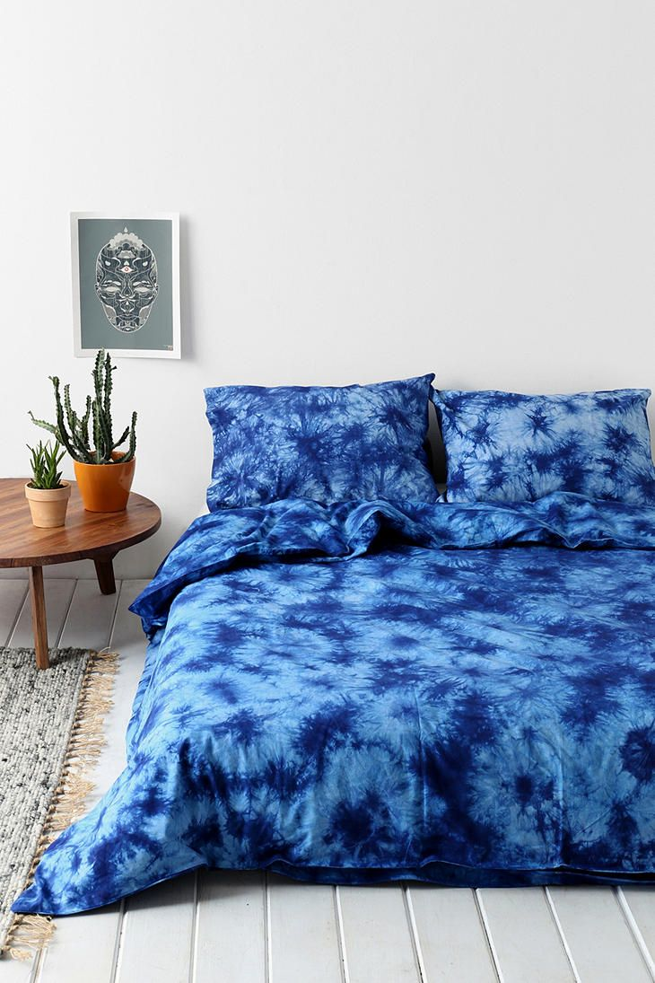 Magical Thinking Acid Wash Duvet Cover Indigo Indigo