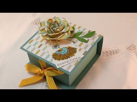 Flip Top Box Video. Stampingwithamore.com. Cute Gift/ Treat Box