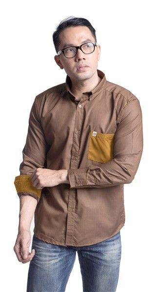 Brown Comb Poplin Shirt