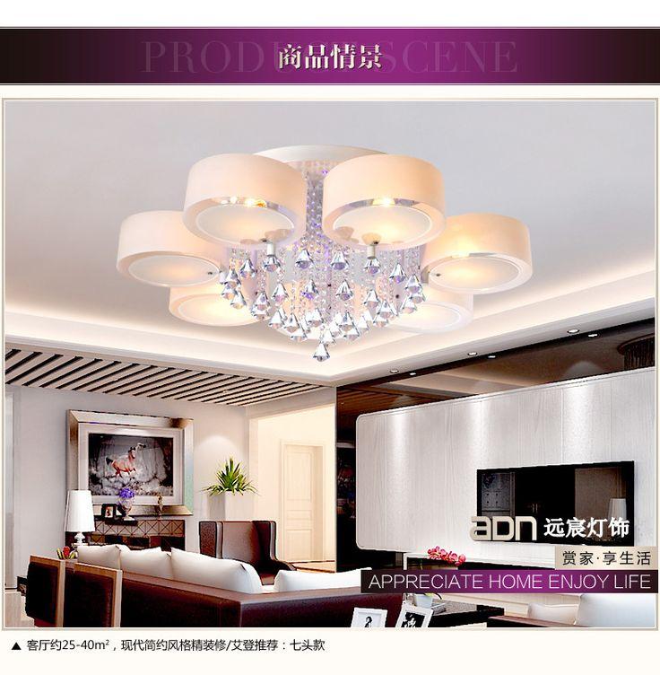Простой современный ресторан LED потолок гостиной лампы спальни лампа люстра кристалл освещение атмосфера Искусство - Taobao