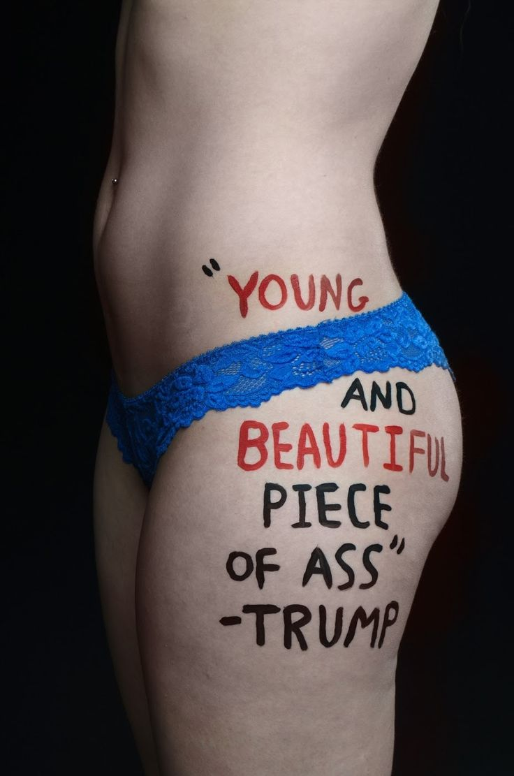 A very NSFW photo series featuring quotes President-elect Donald Trump has said about women has gone viral this week.