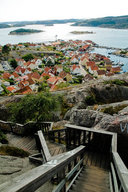 It's a beautiful world — Stairs down to Fjällbacka / Sweden (by Olivia_44).