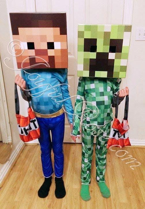 ARTE COM QUIANE - Paps,Moldes,E.V.A,Feltro,Costuras,Fofuchas 3D: Fantasia do Minecraft com molde - Faça você mesmo - DIY