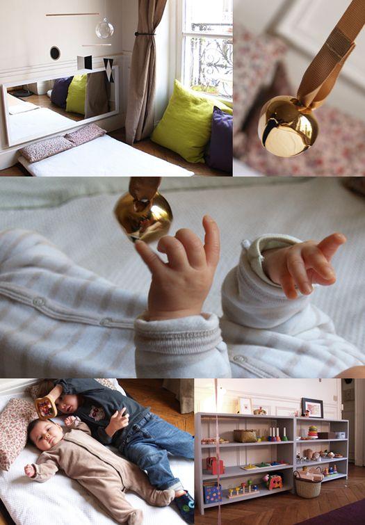 Coin d'activité bébé pédagogie Montessori