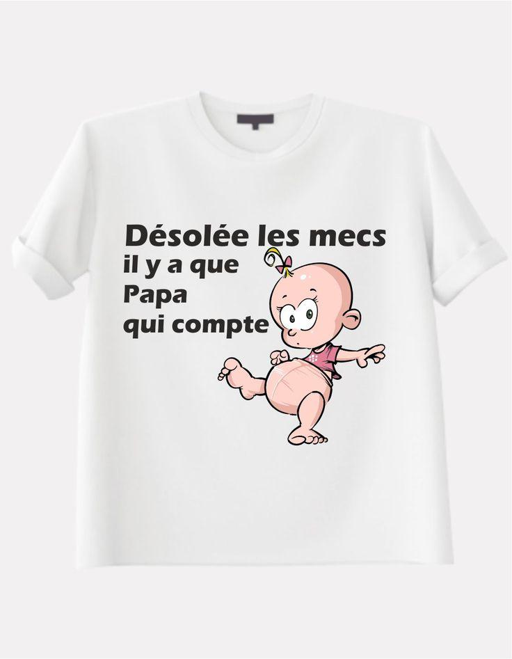 T shirt pour fille avec dessin d 39 une petite fille dr le avec petite queue de cheval haute - Imprimer photo sur tee shirt ...