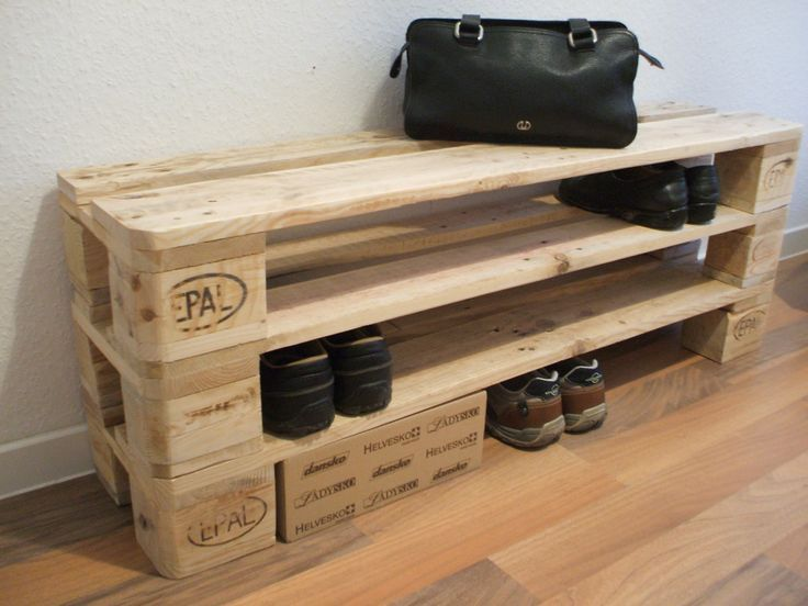Meuble Chaussure Palette Shoe Rack Of Pallets Desired Height Up To Xxl 10 Floors Palettenmobe Meuble Chaussure Rangement A Chaussures Meubles En Caisse