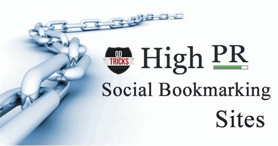 High PR DoFollow Social Bookmarking Sites List