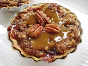 """Butter Crunch Pie Crust 1/2 c Butter  1/4 c Brown Sug packed 1 c Flour (GF is fine) 1/2 c Chopped pecans, or Coconut Heat oven to 400. Mix all ing together. Spread in oblong pan, 13x9x2. Bake 15 min/ Take out of oven & stir w/ a spoon. Save 3/4 c for topping. Immediately press the rest of the mixture into a 9"""" pie plate, pressing into bottom and up the sides. Cool & pour in ur favorite lemon chiffon, or any cream pie filling. Sprinkle reserved crumbs over top. Chill 1 hr. & serve."""