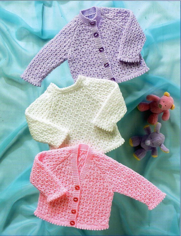 eea46564b Baby cardigan and sweater knitting pattern pdf girls picot edge 4ply ...
