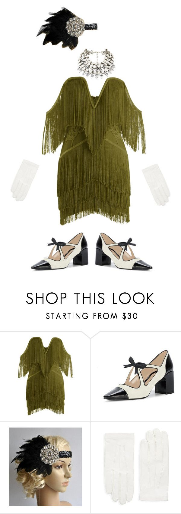 """""""Frilly Flapper Girl"""" by justdanceinspo ❤ liked on Polyvore featuring RED Valentino and vintage"""