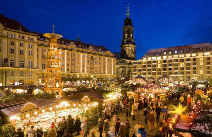 Der Dresdner Striezelmarkt ist Deutschlands ältester Weihnachtsmarkt