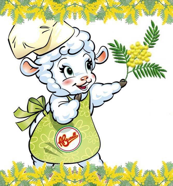 Da parte dell'intero staff di Brunelli e dalla nostra portavoce, la pecorella Biancaneve, tantissimi auguri a tutte le Donne!