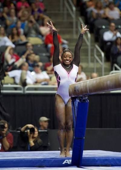 Simone Biles--2014 P&G Championships day one awww her smile :D