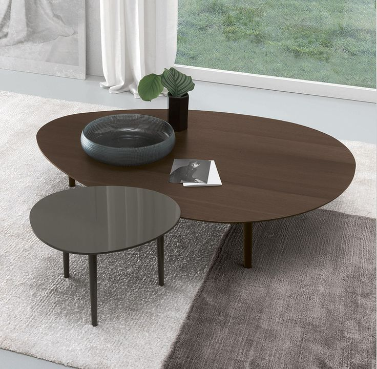 The Pond occasional table with a stylish wooden base and coloured lacquer is the latest in Italian design and quality...