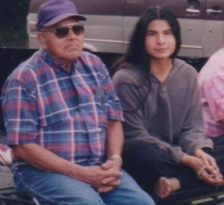 Everett Osceola and his grandpa