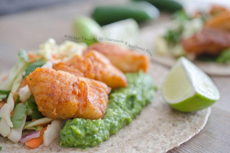 refreashing please: Fish Seafood Recipes, Fish Tacos, Southern Slaw, Fish Recipes, Aji Guacamole, Low Fish, Southwest Slaw, Favorite Recipes