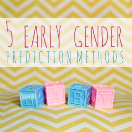 5 Early Gender Prediction Methods » Daily Mom