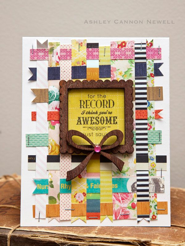 A New Design blog » Paper Crafting Ideas by Ashley Cannon Newell love the stamp